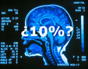 El mito de que sólo usamos el 10% de nuestro cerebro